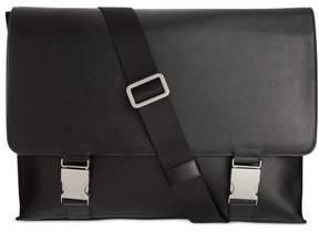 Calvin Klein Unisex Saffiano Leather Messenger Bag Black