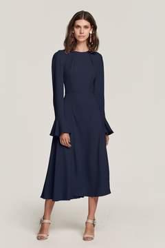 Yahvi Navy Midi Dress