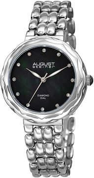 August Steiner Womens Silver Tone Strap Watch-As-8248ssbk
