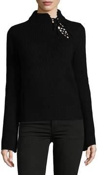 Ella Moss Women's Lace-Up Sweater