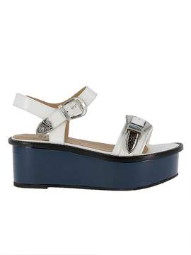 Toga Pulla White/blue Leather Sandals