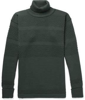 S.N.S. Herning Fisherman Panelled Virgin Wool Rollneck Sweater