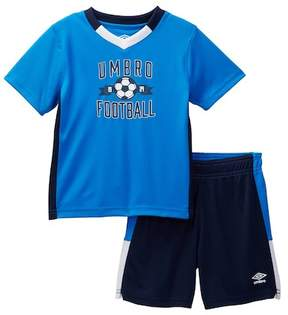 Umbro Short Sleeve Soccer Tee & Shorts Set (Toddler Boys)