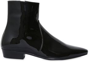 30mm Devon Patent Leather Ankle Boots