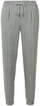 Eleventy striped elasticated waist trousers