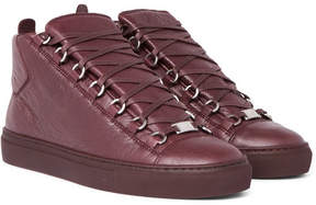 Balenciaga Arena Full-Grain Leather High-Top Sneakers