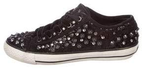 Ash Sequin Studded Sneakers