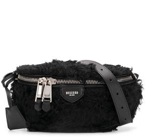 Moschino faux fur belt bag