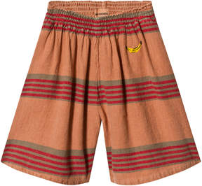 Bobo Choses Muted Clay Stripes Linen Culotte Pants