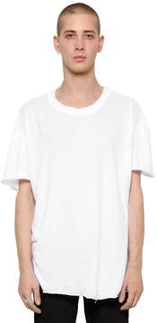 RtA Raw Cut Light Jersey & Cashmere T-Shirt