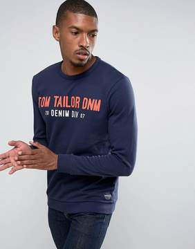 Tom Tailor Sweatshirt With Brand Graphic