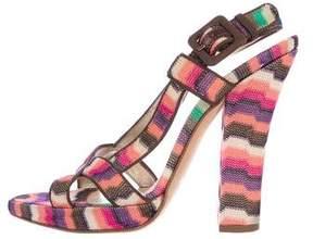 Missoni Knit Slingback Sandals