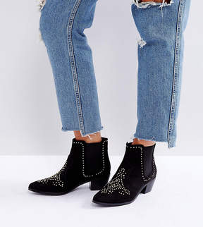 New Look Wide Fit Studded Western Ankle Boot