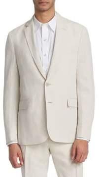 Ralph Lauren Purple Label Silk Linen Slub Blazer
