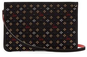 Christian Louboutin Loubiclutch Glitter Jacquard Bag - Womens - Black Multi