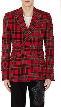 Haider Ackermann Men's Plaid Wool-Cotton Double-Breasted Sportcoat