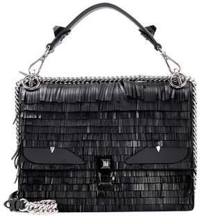 Fendi Kan I fringed leather shoulder bag