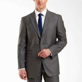Jf J.Ferrar JF 2-Button Gray Sharkskin Suit Jacket-Big & Tall