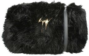 Giuseppe Zanotti Francine Black Faux Fur Clutch