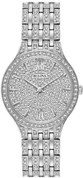 Bulova 96L243 Silver/Crystals 32mm Stainless Steel Women's Watch