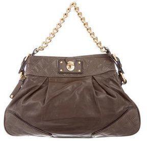 Marc Jacobs Pleated Shoulder Bag - GREY - STYLE