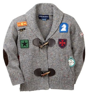 Andy & Evan Patches Toggle Cardigan (Baby Boys)