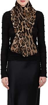 Barneys New York Women's Leopard-Print Fur Scarf