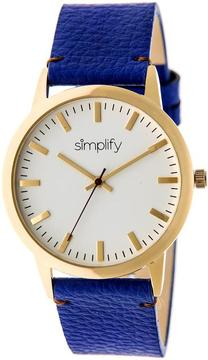 Simplify The 2800 Collection SIM2804 Unisex Watch with Leather Strap