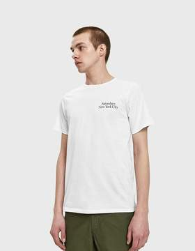 Saturdays NYC Miller Standard Chest SS Tee in White