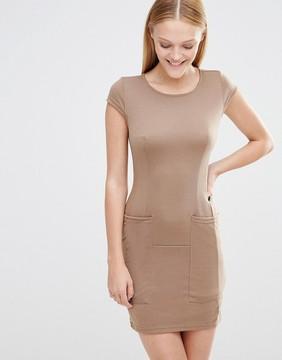 AX Paris Cap Sleeve Shift Dress With Pockets