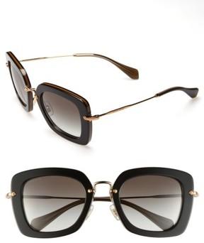 Miu Miu Women's 52Mm Retro Sunglasses - Black