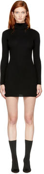 Balmain Black Buttoned Turtleneck Dress