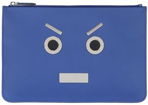 Faces Leather Pouch