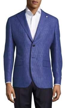 Lubiam Wool & Linen Mini Check Sportcoat