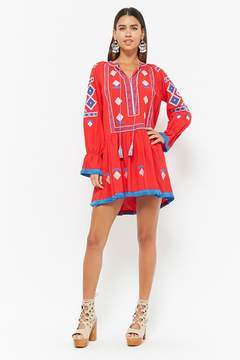 Forever 21 Embroidered Tassel Dress