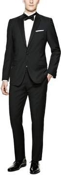 Calvin Klein Collection Men's Black Hudson Peak Lapel Tuxedo