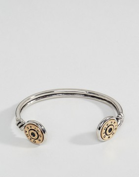 ICON BRAND Bullet Cuff Bangle Bracelet In Silver