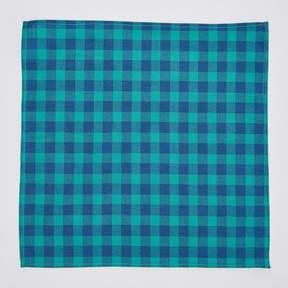 Blade + Blue Green & Blue Buffalo Check Pocket Square