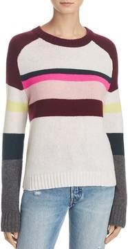 Aqua Cashmere Stripe Raglan Sweater - 100% Exclusive