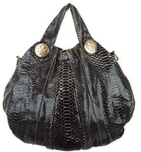 Gucci Large Python Hysteria Tote - BLACK - STYLE