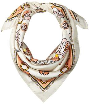 Tory Burch Hicks Garden Silk Neckerchief Scarves