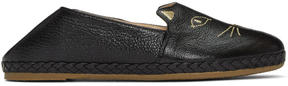 Charlotte Olympia Black Kitty Espadrilles