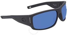 Costa del Mar Cape Blue Mirror Rectangular Sunglasses CAP 187 OBMP