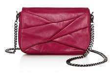 Halston Grace Small Bow Convertible Leather Crossbody