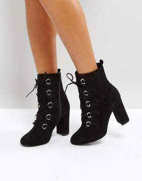 Faith Bria D Ring Lace Up Boots