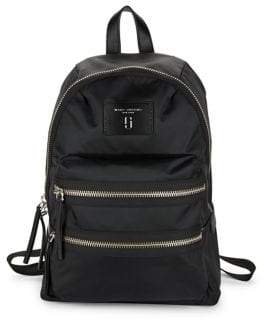 Marc Jacobs Zip-Accented Nylon Backpack - BLACK - STYLE