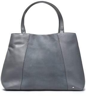 Halston Suede-Paneled Textured-Leather Tote