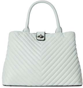 Urban Expressions Mint Gazer Quilted Tote