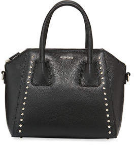 Mario Valentino Valentino By Minimi Studded Preciosa Dollaro Leather Satchel Bag