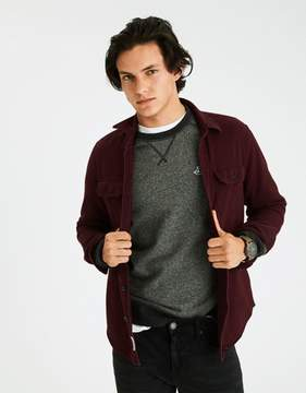 American Eagle Outfitters AE Solid Twill Shirt Jacket